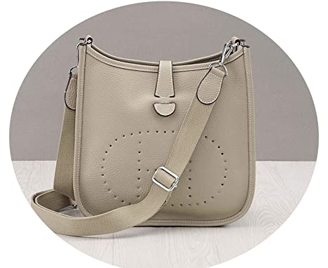 01ef3c6846fd Amazon.com: Chibi-store Women Shoulder Bag Genuine Leather H Hole ...
