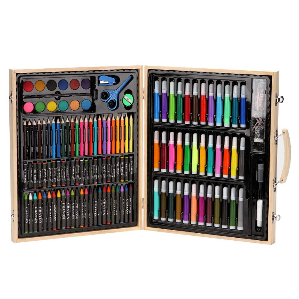 Fan-Ling 150 Piece Deluxe Art Set - Art Supplies for Drawing, Painting and More in a Plastic Case - Makes a Great Gift for Children and Adults by Fan-Ling