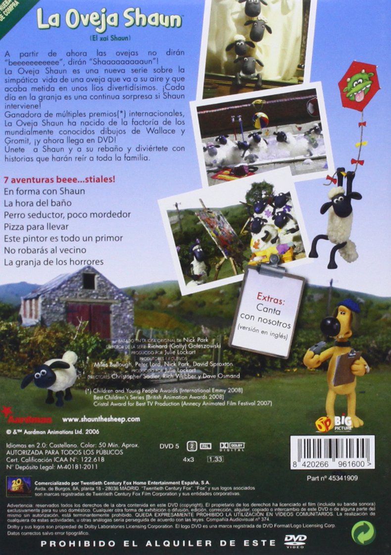 La Oveja Shaun (Vol. 1) [DVD]: Amazon.es: Christopher Sadler ...