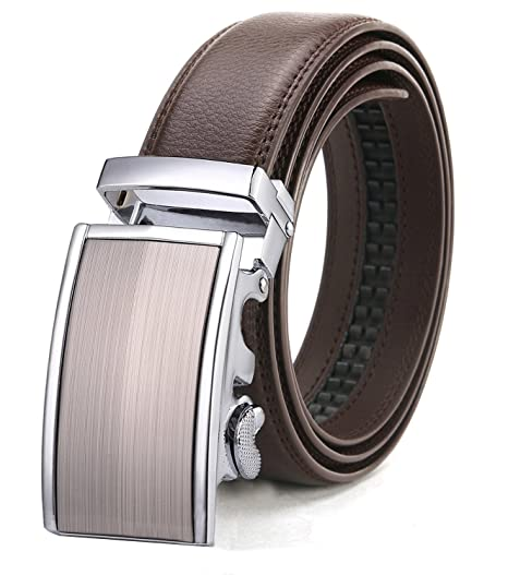 68e707044796c ITIEZY Adjustable Belt for Men With Automatic Buckle Brown Strap XXL ...