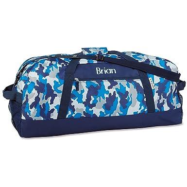 c620d75f9c12 Amazon.com | Personalized Kids Blue Camo Duffel Bag, Boy's Sports ...