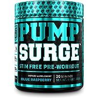 PUMPSURGE Caffeine Free Pump & Nootropic Pre Workout Supplement - Non Stimulant Preworkout Powder & Nitric Oxide Booster…