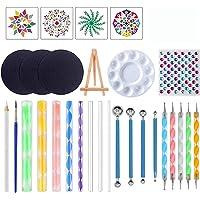 Daseey 29pcs Mandala Dotting Tools Set with Stencils Palette Paint Brush Ball Stylus Pens for Painting Rocks Nails…