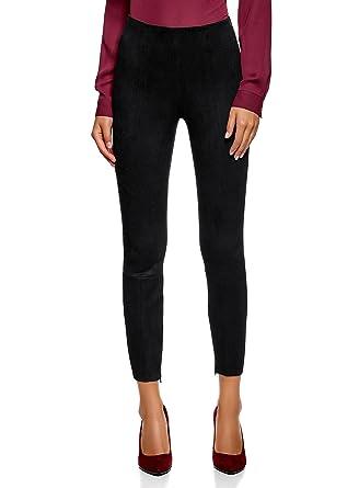 oodji Ultra Femme Legging Skinny en Suédine  Amazon.fr  Vêtements et ... d72b701a4d0a