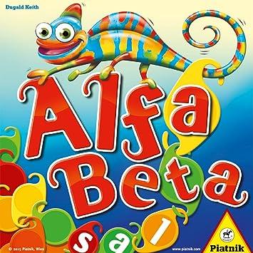 Piatnik Alfa Beta Niños Juego de Mesa de Palabras - Juego de Tablero (Juego de Mesa de Palabras, Niños, Niño/niña, 8 año(s), Dugald Keith, Caja): Amazon.es: Juguetes y juegos