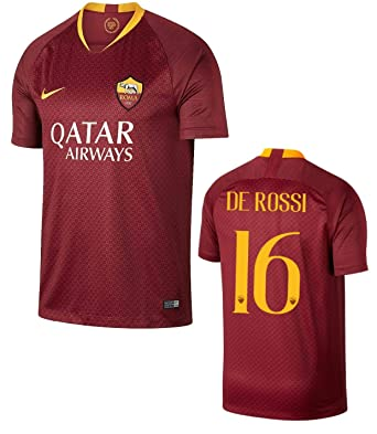 check out c219e 4ae38 Amazon.com: AS Roma De Rossi Home Jersey 2018-2019 Adult and ...