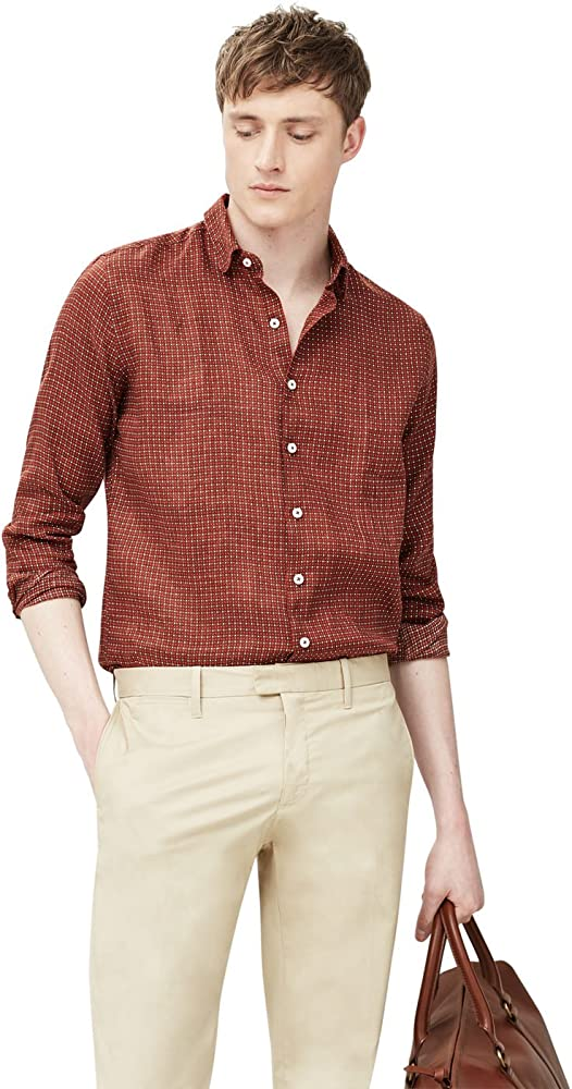 MANGO MAN - Camisa casual - para hombre marrón XX-Large: Amazon.es: Ropa y accesorios