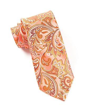 TheTieBar - Corbata de seda 100% orgánica, color coral: Amazon.es ...