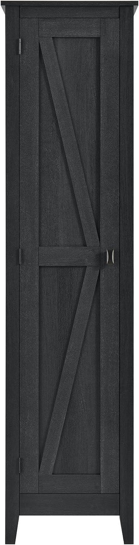 Ameriwood Home SystemBuild Storage Cabinet, Black Oak