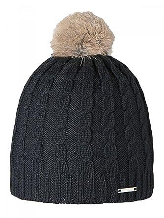 e9553175f4 BARTS Bonnet noir pompon fourrure véritable Modèle junior et femme hiver