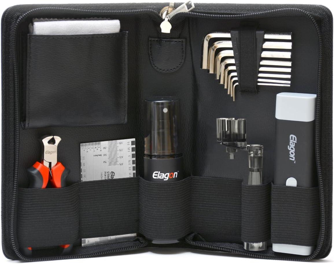 Elagon (ST) Kit de limpieza Guitarra Pro – El kit de Mantenimiento y Limpieza para Guitarra, contiene todas las herramientas necesarias para mantener su guitarra limpia y lista para el mejor performan