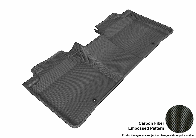 Black 3D MAXpider Second Row Custom Fit All-Weather Floor Mat for Select Lexus ES// ES Hybrid Models L1LX02721509 Kagu Rubber