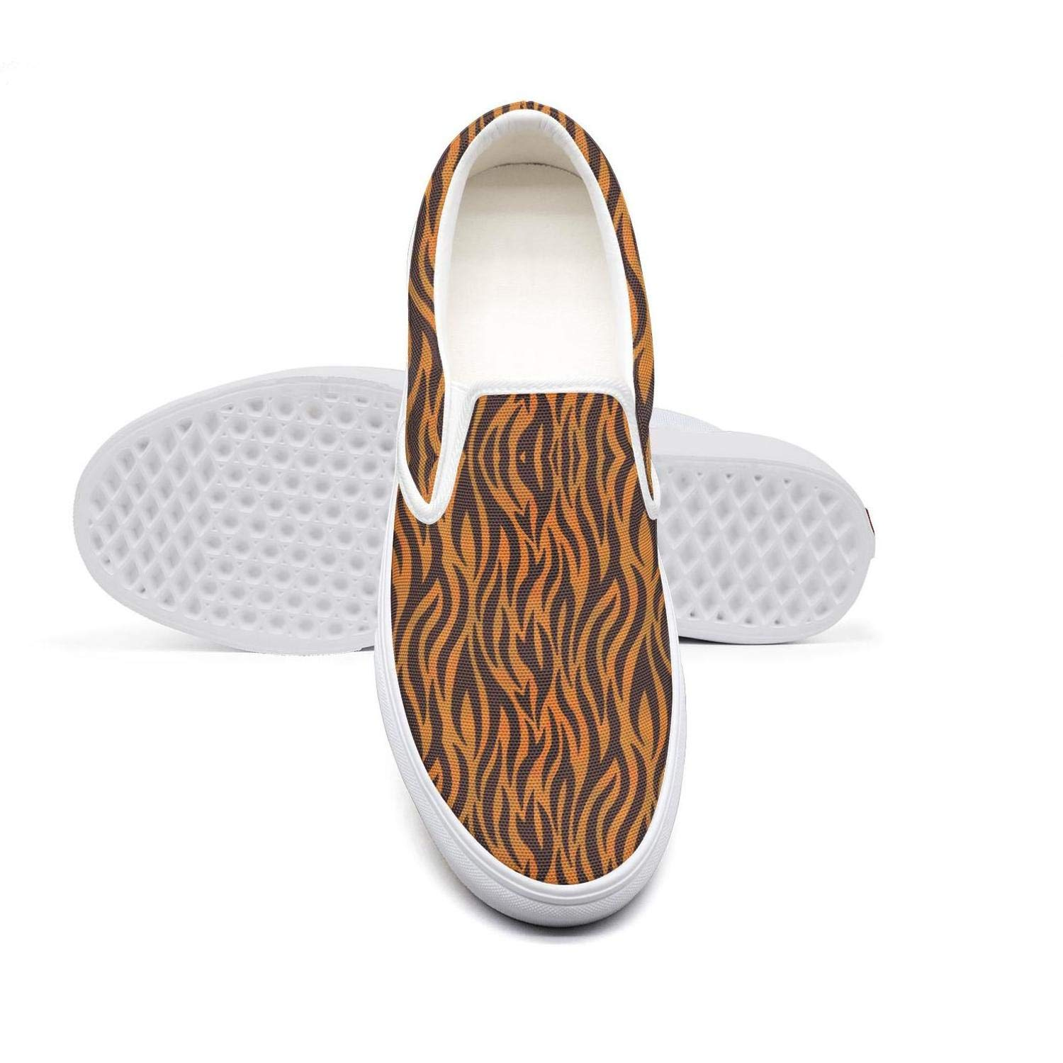Tiger Stripes fire Casual Loafers Men Cool Skateboard Canvas Training Shoes