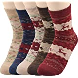 American Trends Women Colorful Wool Socks Knitted Warm Winter Socks