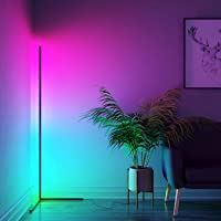 Minimalist Floor Lamp, WAMBORY RGB Floor Lamp, Smart LED Floor Lamp with Remote Control, RGB Colour Changing Living Room…