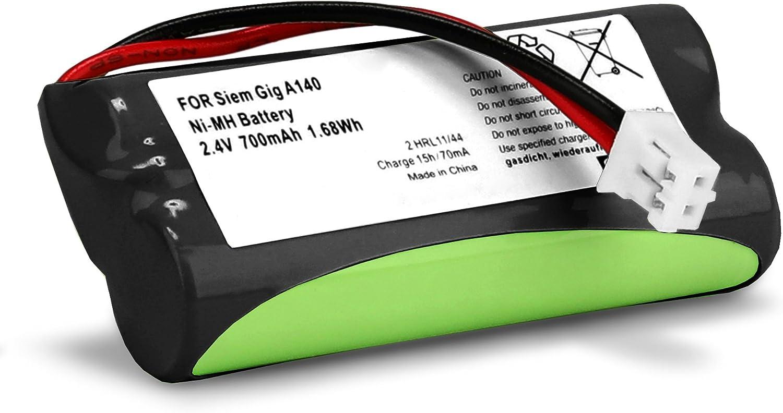 subtel® Batería Compatible con Siemens Gigaset A120 A14 A140 A145 A160 A165 A245 A240 A260 A265, Universum CL15 SL15 (700mAh) V30145-K1310-X383,V30145-K1310-X359 bateria de Repuesto, Pila reemplazo