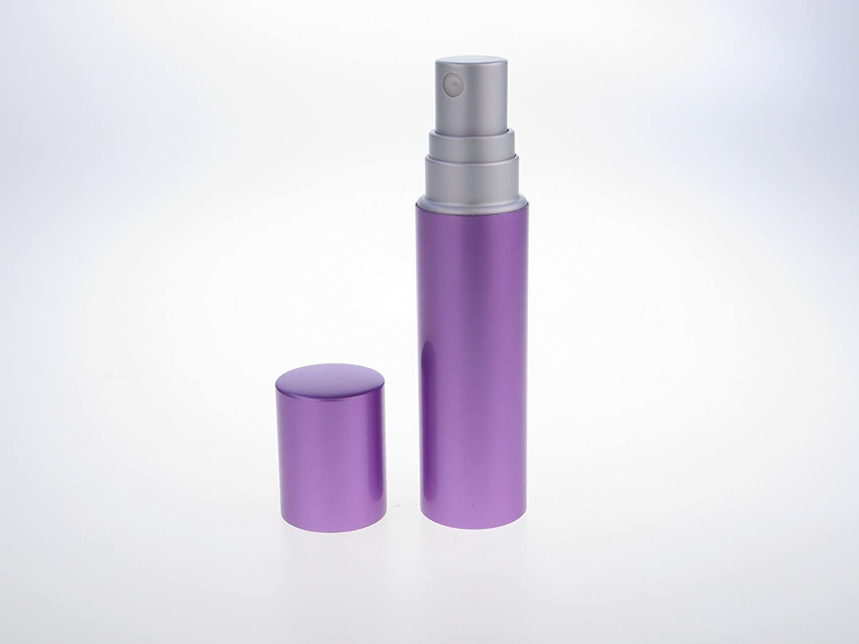 Modern Sleek Palma Violet 8ml Refillable Perfume Atomizer for Handbag, Pocket or Travel. Supplied with Filling Funnel