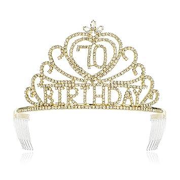 nosotros resultado Nadie  Amazon.com: DcZeRong - Tiara para mujer de 70 cumpleaños con corona dorada:  Beauty