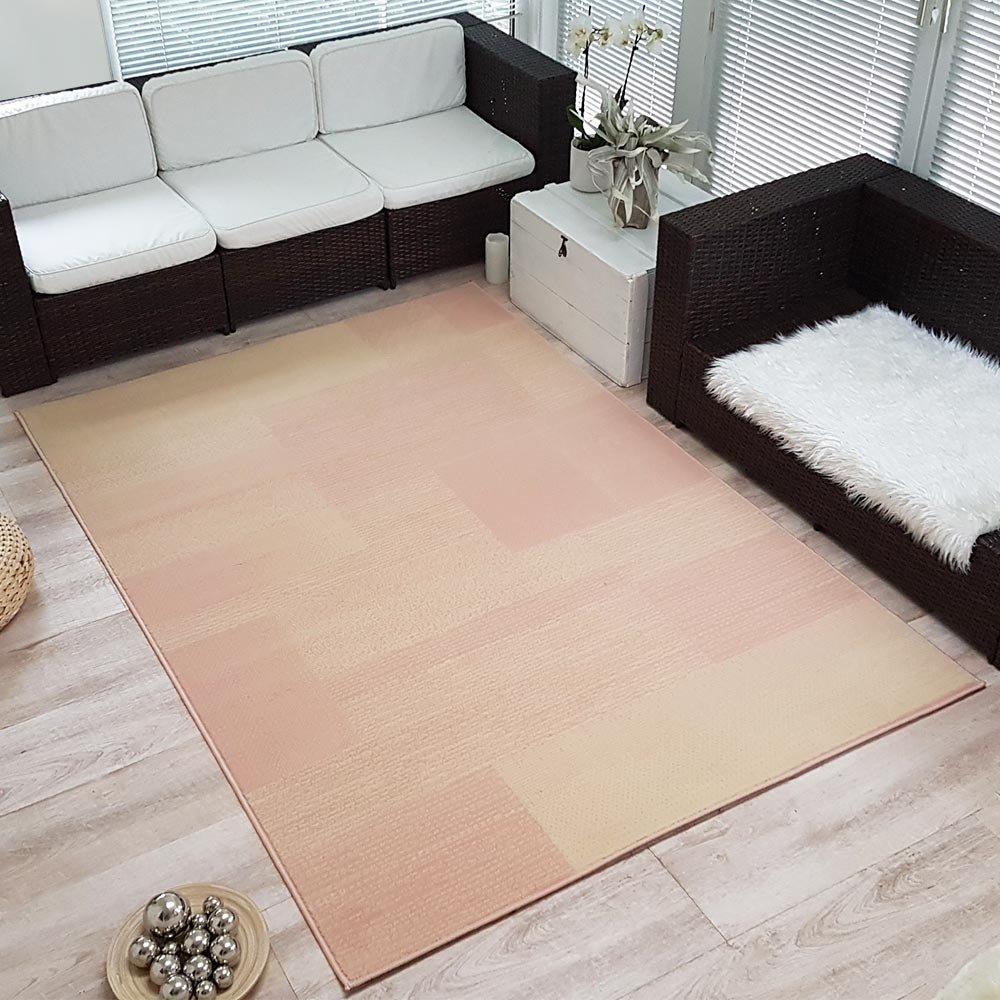 Velours Design Teppich Kurzflor 'Marble' | Kurzflor Teppich grau, Taupe, braun, Cacao, Größe:200x290 cm, Farbe:Dunkelbraun 077c71