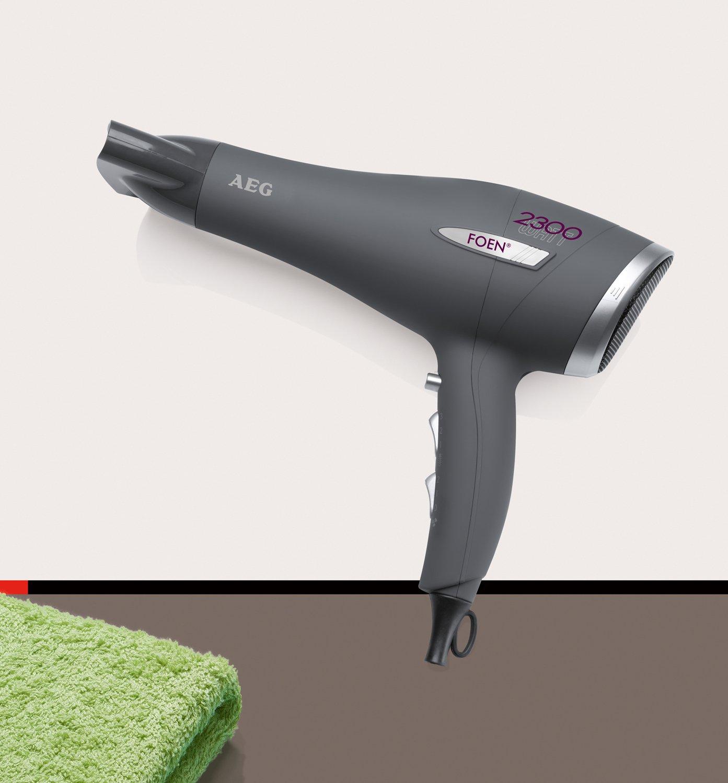 AEG HT 5580 - Secador de pelo profesional, 3 niveles de temperatura, 2 velocidades, ECO Save, 2300 W, color rojo: AEG: Amazon.es: Salud y cuidado personal