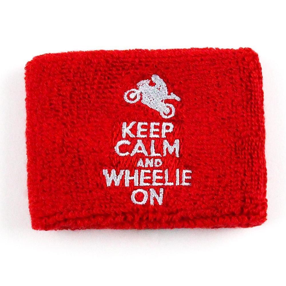 Reservoir SocksKeep Calm Wheelie On Brake Reservoir Covers by Reservoir Socks for Motorcycles, Sportbikes