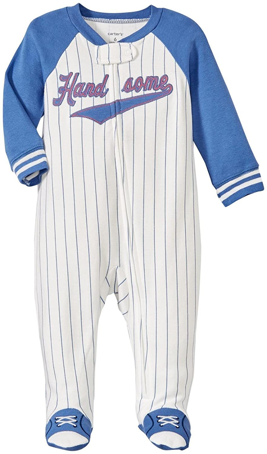 Carter's Baby Boys' Pinstriped & Handsome Footed Coverall newborn Carter's 1237653