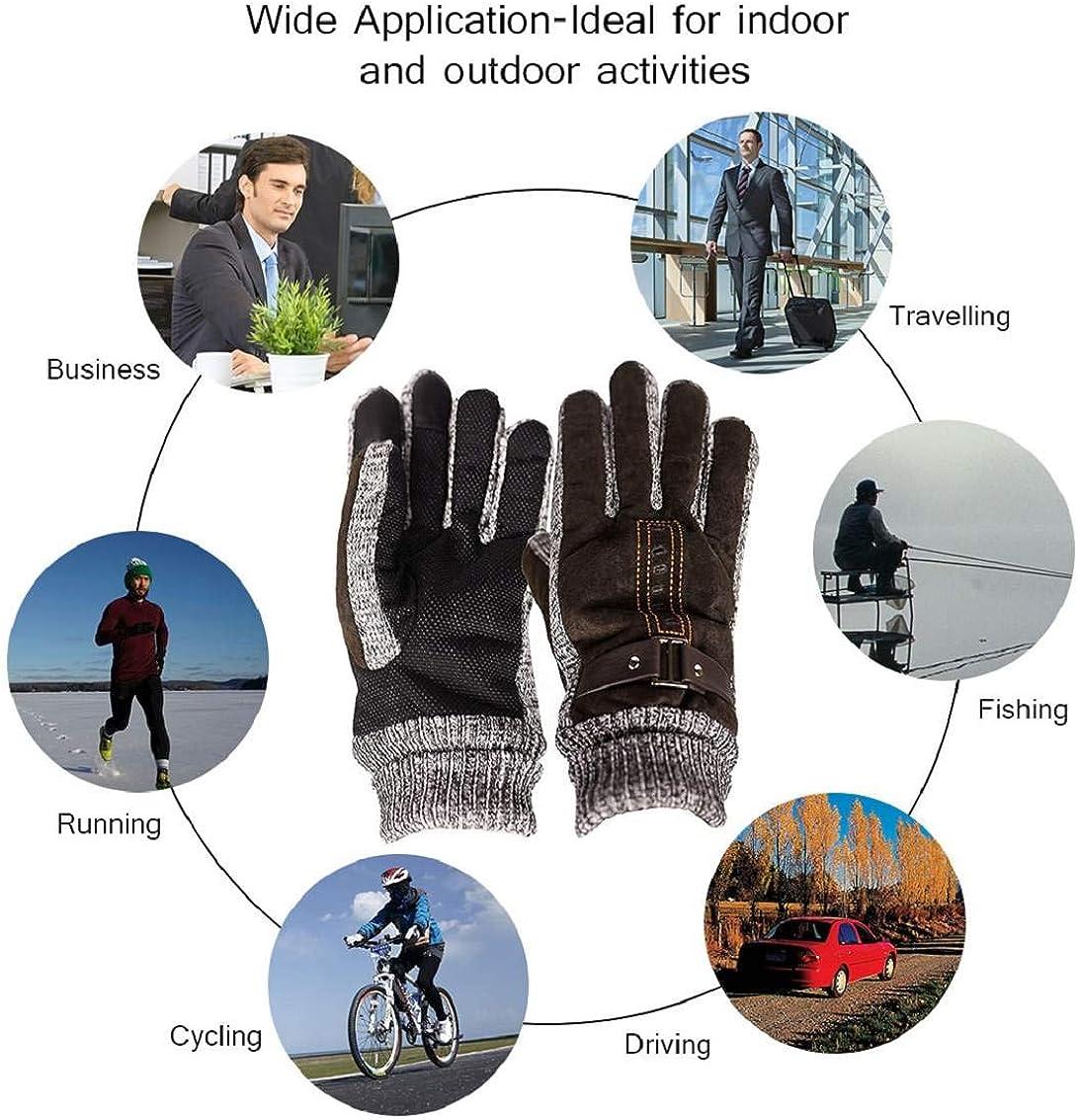 heekpek Guanti Invernale per Outdoor Sport Unisex Esterna Bicicletta Caccia Arrampicata Sportiva Guanti