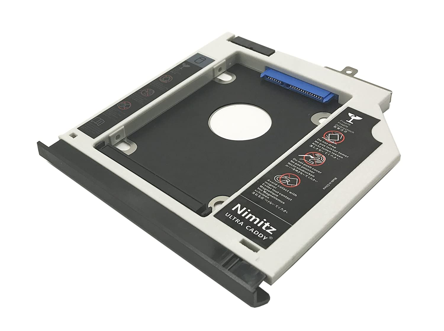 Caddy per secondo harddisk HDD SSD Nimitz per Dell Precision M4600 M4700 M4800 M6400 M6500 M6600 M6700 M6800