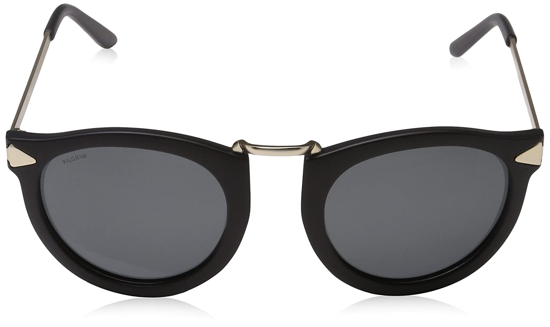 Black Pilgrim Gold da Plated Kinsley PI Sunglasses Occhiali Sole XUqwxBSOU