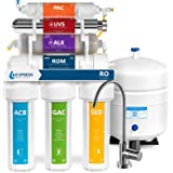 Express Water UV Reverse Osmosis Water Filtration System – 11 Stage UV Water Filter with Faucet and Tank – Under Sink…