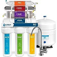 Express agua roalkuv10 m 11 fase UV ultravioleta + alcalinas + casa sistema de filtrado de agua potable de ósmosis…