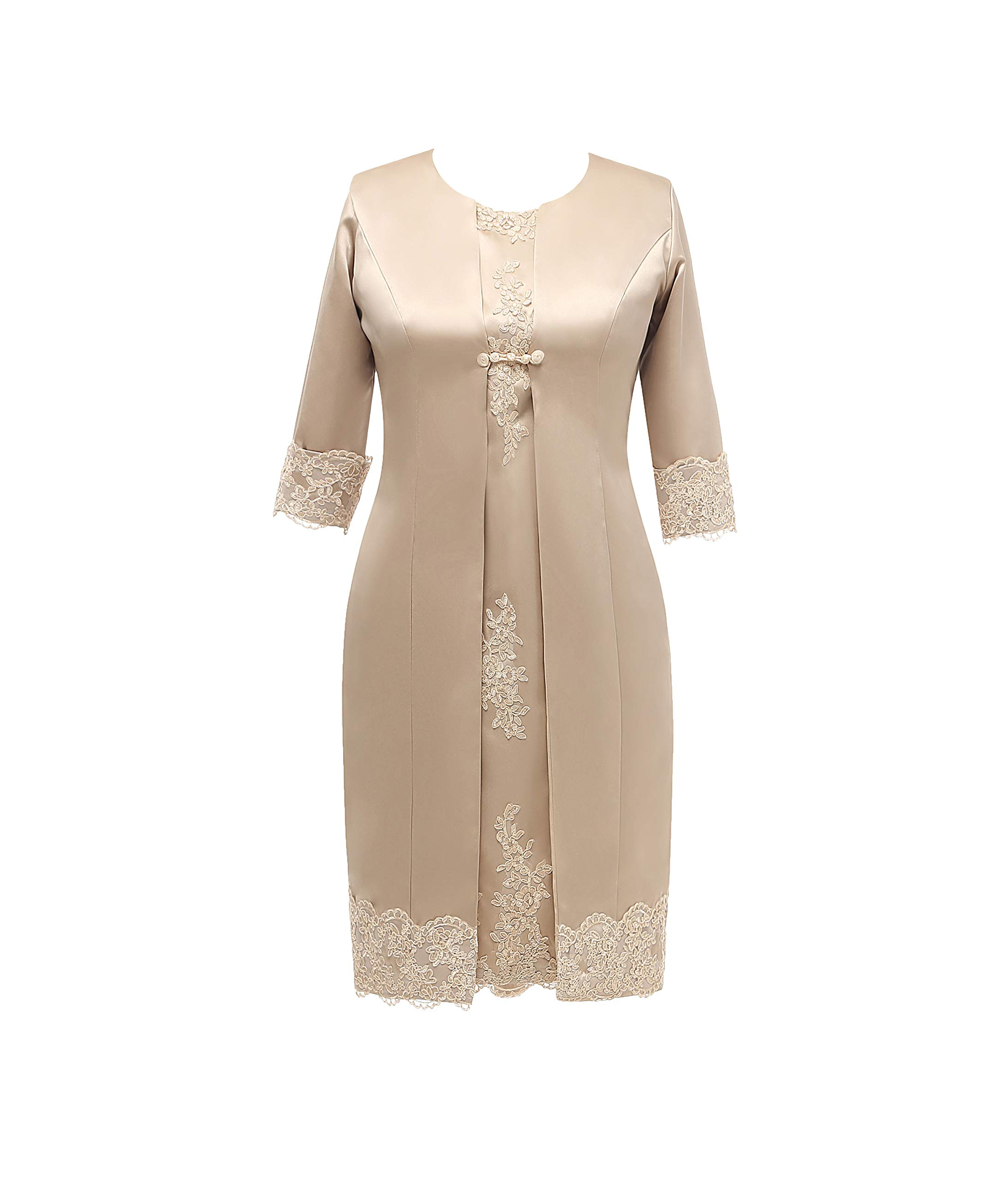 Jingdress Tea Length Mother Of The Bride Dresses With