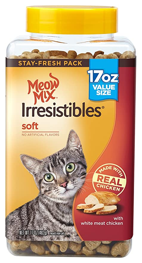 Soft Cat Food >> Amazon Com Meow Mix Irresistibles Cat Treats Soft With White Meat