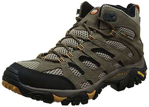 Merrell Men's Moab Ventilator Mid Hiking Boot,Walnut,9.5 M US