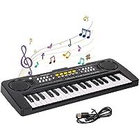 Shayson Teclado Electrónico Piano 37 Teclas,Teclado de Piano Portátil para niños con Fuente de Alimentación, Música…