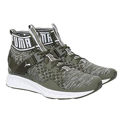 buy online 52fc5 58c21 Puma Unisex's Ignite Evoknit Olive Night-Quarry W Running Shoes
