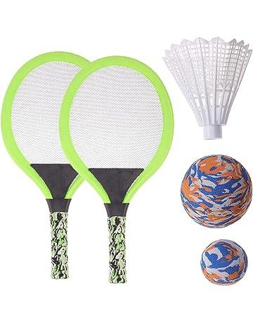 BESPORTBLE Badminton Set pour Enfants avec Raquettes Junior Tennis Raquette Play Game Beach Toys Bleu