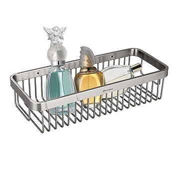 HOMEIDEAS Shower Caddy Corner Stainless Steel Shower Basket Bathroom Shower  Shelf Toiletries Organizer Rustproof,Wall