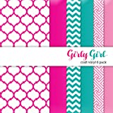 Girly Girl Multi-pack Printed Craft Vinyl 6 Sheets 12x12 for Vinyl Cutters