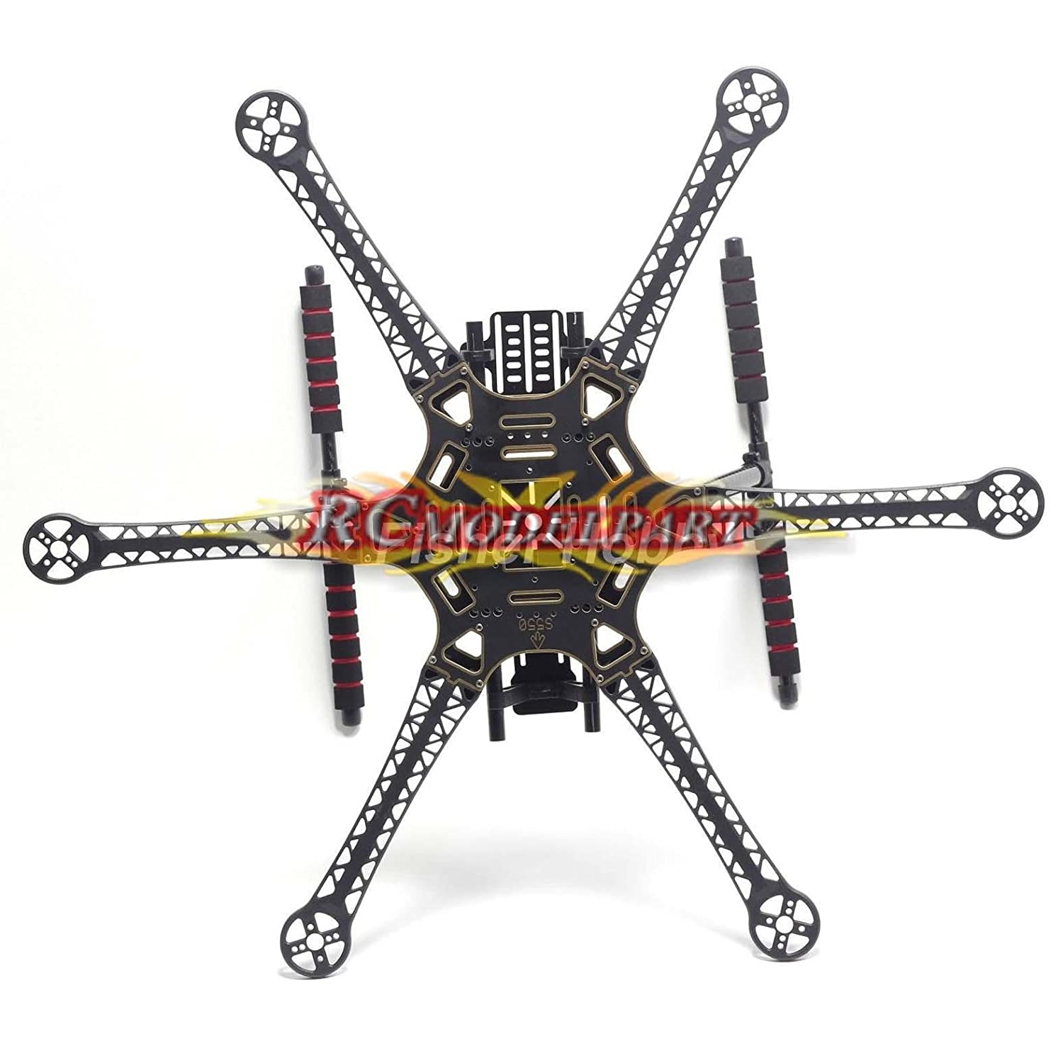 Amazon.com: Hobbypower S550 F550 Upgrade Hexacopter Fuselage Frame ...