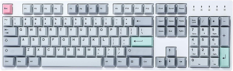 HK Gaming Dye Sublimation Keycaps | Perfil Cherry | Teclas PBT gruesas para teclado mecánico (139 teclas, luz moderna de muñeca)