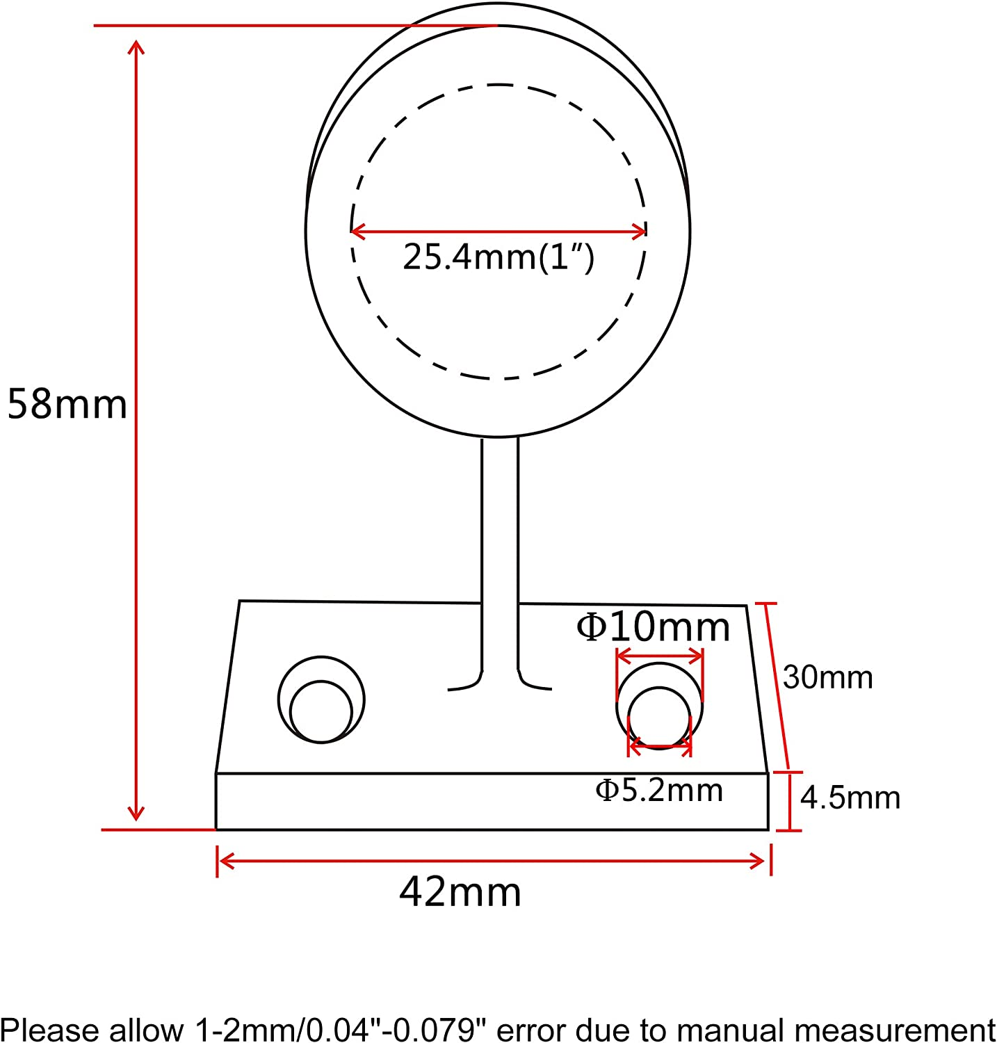 NRC/&XRC 316SS Hand Rail Fitting 60/° Front-Left Hand for 1-Inch 0D Tube Marine Boat Yacht