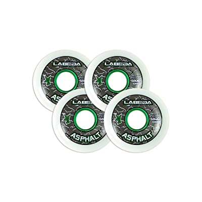 Labeda Asphalt Outdoor Inline Roller Hockey Wheels 68mm White 83A Outdoor 4-Pack : Sports & Outdoors