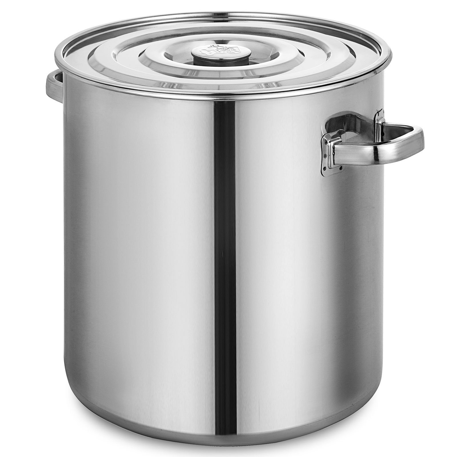 Mophorn Brew kettle Stockpot with Lid 52 Quart Stainless Steel Bot Brewing 13.1 gallon Home Brewing for Beer Brewing, Maple Syrup, Stainless Steel Stock Pot Cookware
