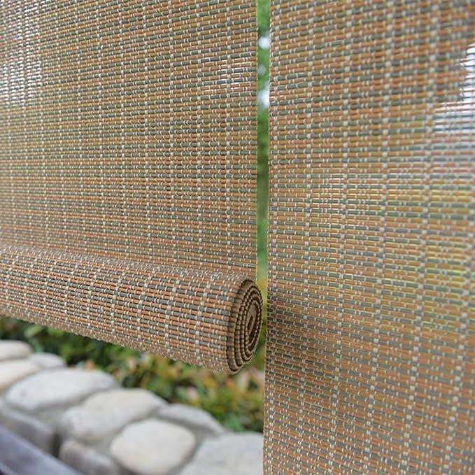 Persiana de bambú Persianas Exteriores De La Cortina Enrollable ...