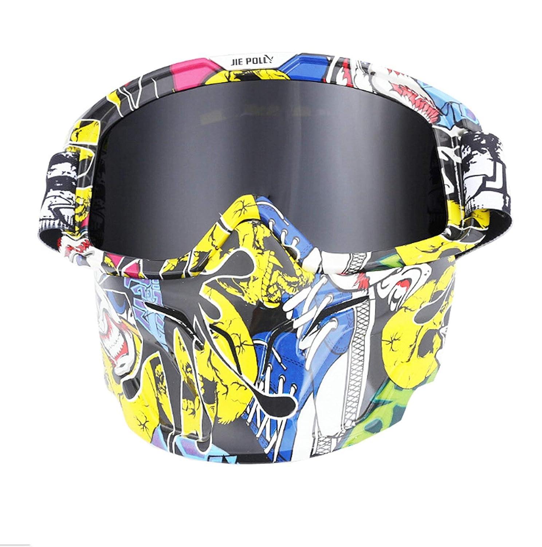 Lafeil Sportsonnenbrille Herren Damen Herren Retro Gesichtsmaske Schutzbrillen Motocross Rennschutzbrillen Im Freien Reitbrille Fahren
