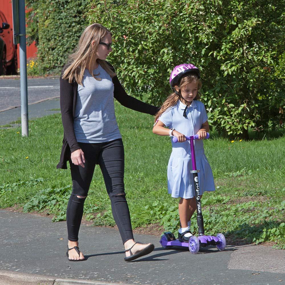 3StyleScooters/® RGS-2 Monopattino a Tre Ruote per Bambini Maniglie Regolabili e Struttura Leggera Perfetto per i Bambini con pi/ù di 5 Anni Dotato di Ruote LED Luminose Design Pieghevole