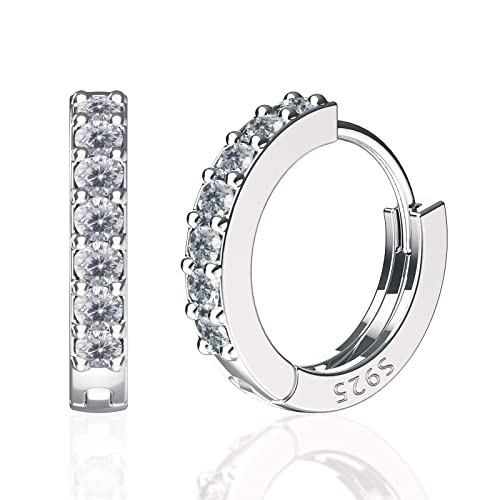 55982080c5cdd SWEETV 925 sterling silver hoop earrings for women girls - Tiny small large  huggie hoop earring 3 sizes
