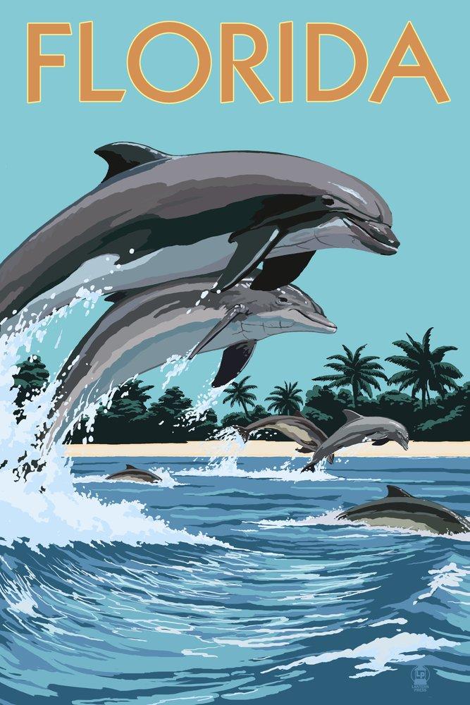 フロリダ州 – Dolphins Jumping 36 x 54 Giclee Print LANT-42029-36x54 36 x 54 Giclee Print  B017E9XC5E