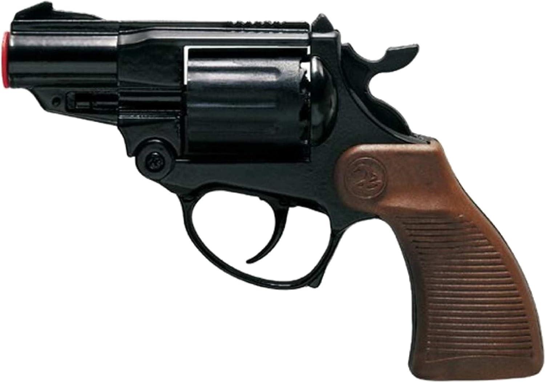 VILLA GIOCATTOLI 1452 Falcon Black - Pistola de Juguete (Metal, 12 Disparos, 125 dB)